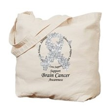 Brain Cancer Butterfly Ribbon Tote Bag