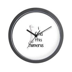 I find this humerus Wall Clock