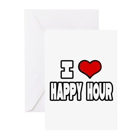 """I Love Happy Hour"" Greeting Cards (Pk of 20)"
