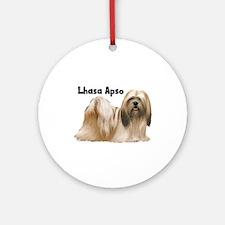 Lhasa Apso Ornament (Round)