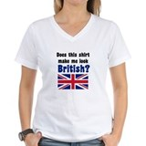 British Womens V-Neck T-shirts