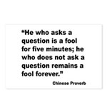 No Foolish Question Proverb Postcards (Package of