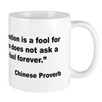 No Foolish Question Proverb Mug