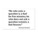 No Foolish Question Proverb Mini Poster Print