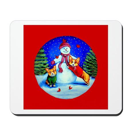 Welsh Corgi Frosty's Helpers Mousepad