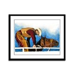"""""""THREE TO GET READY"""" Framed Panel Print"""