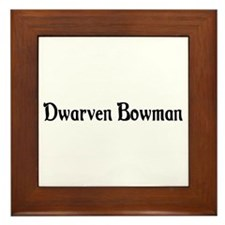 Dwarven Bowman Framed Tile