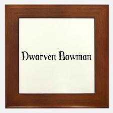 Dwarven Bowman Framed Tile