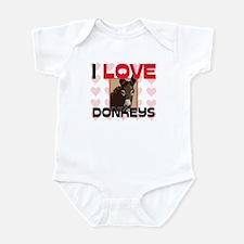 I Love Donkeys Infant Bodysuit
