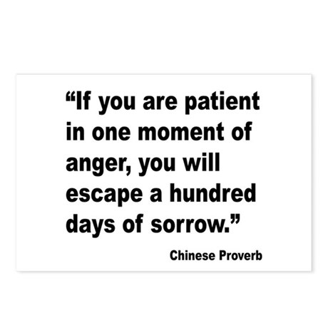 Patient Anger Sorrow Proverb Postcards (Package of