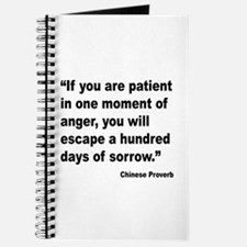 Patient Anger Sorrow Proverb Journal