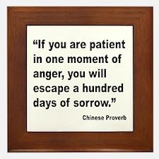 Patient Anger Sorrow Proverb Framed Tile
