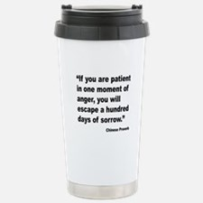 Patient Anger Sorrow Proverb Travel Mug