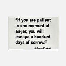 Patient Anger Sorrow Proverb Rectangle Magnet