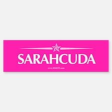 Sarahcuda in Hot Pink Bumper Bumper Bumper Sticker