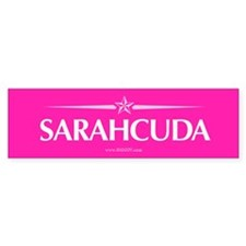 Sarahcuda in Hot Pink Bumper Bumper Sticker
