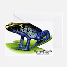 Dyeing Poison Dart Frog Greeting Card