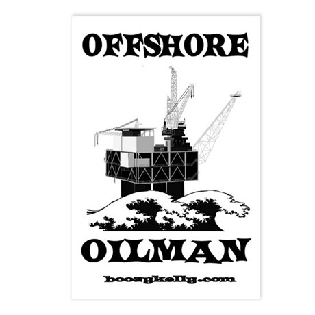 Offshore Oilman Postcards (Package of 8)