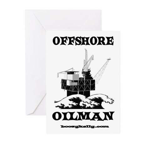 Offshore Oilman Greeting Cards (Pk of 20)