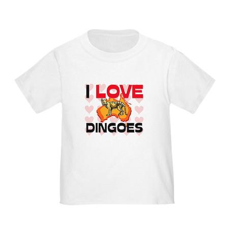 I Love Dingoes Toddler T-Shirt