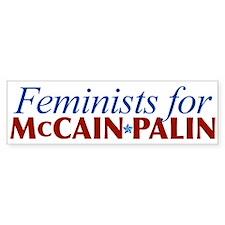 Feminists for McCain Palin Bumper Bumper Sticker