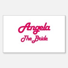 Angela - The Bride Rectangle Decal