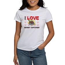 I Love Desert Tortoises Women's T-Shirt