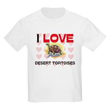 I Love Desert Tortoises Kids Light T-Shirt