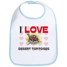 I Love Desert Tortoises Bib