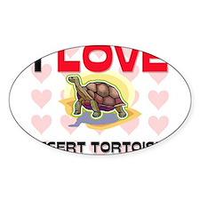 I Love Desert Tortoises Oval Sticker