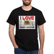 I Love Desert Tortoises Dark T-Shirt
