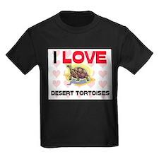 I Love Desert Tortoises Kids Dark T-Shirt
