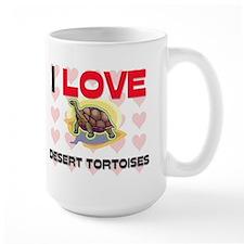 I Love Desert Tortoises Large Mug