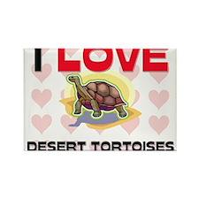 I Love Desert Tortoises Rectangle Magnet
