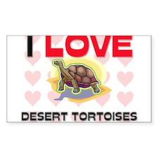 I Love Desert Tortoises Rectangle Sticker