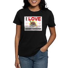 I Love Desert Tortoises Women's Dark T-Shirt