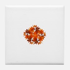 ORANGE TULIP Tile Coaster