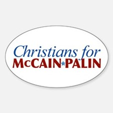 Christians for McCain Palin Oval Decal