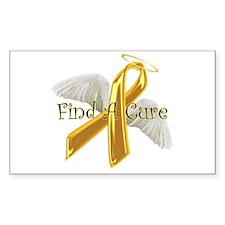 Childhood Cancer Rectangle Sticker 10 pk)