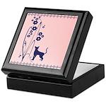 Dark Flowers 'N' Kitty Design Keepsake Box