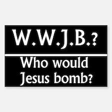 W.W.J.B. Rectangle Decal