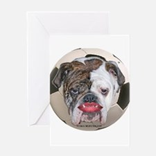Cute Pit bull political Greeting Card