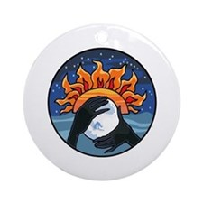 Full Moon Sunset Ornament (Round)