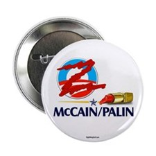 """Lipstick Scribble on Obama 2.25"""" Button (100 pack)"""