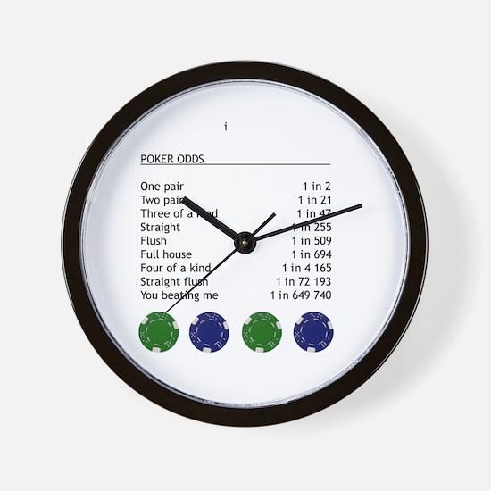 Poker odds Wall Clock