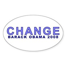 Baby Blue CHANGE Oval Decal