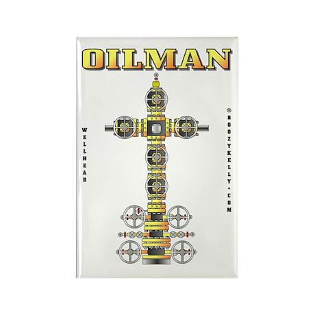 Oilman Rectangle Magnet