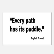 Every Path English Proverb Postcards (Package of 8