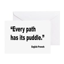 Every Path English Proverb Greeting Card