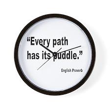Every Path English Proverb Wall Clock